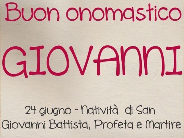 onomastico Giovanni