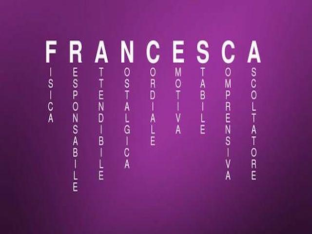 significato di Francesca