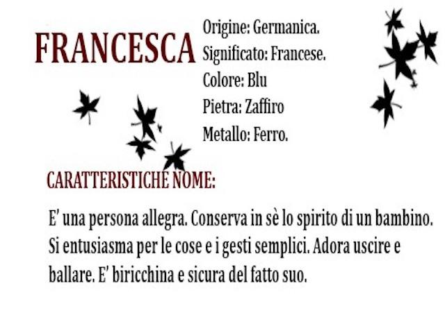 significato Francesca