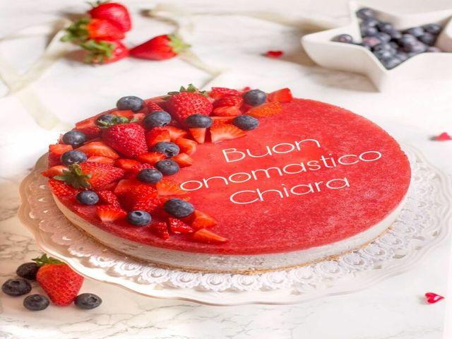 torta onomastico chiara foto