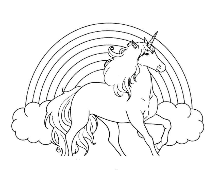 unicorni da colorare bambini