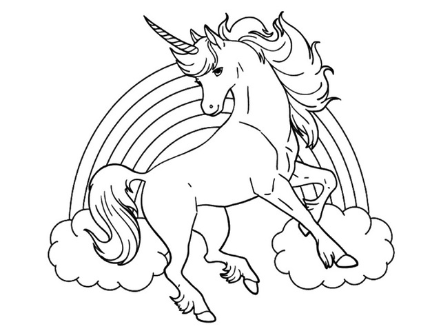Disegni Da Colorare Grandi Gratis.Immagini Di Unicorni 72 Disegni Da Stampare E Colorare A Tutto Donna