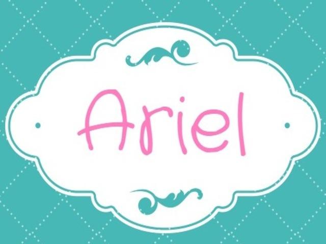 ariel nome scritta foto