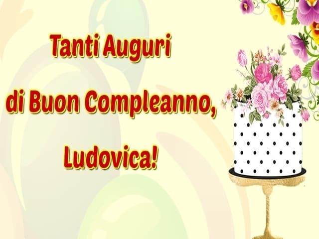 auguri compleanno Ludovica foto