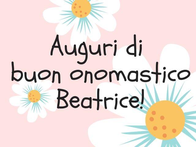 auguri onomastico Beatrice