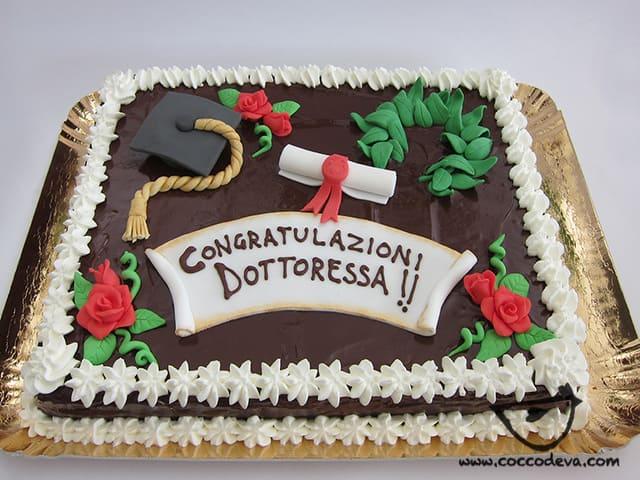 auguri torta di laurea foto