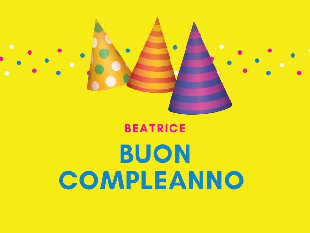 Beatrice compleanno