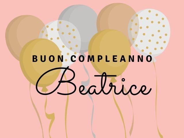 buon compleanno Beatrice