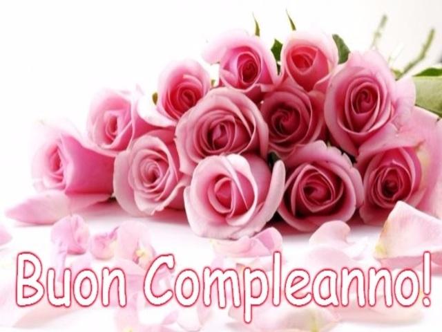 buon compleanno con fiori paola foto