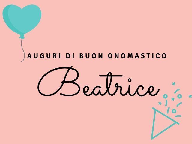 buon onomastico Beatrice