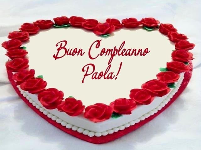 Compleanno Paola auguri torta foto