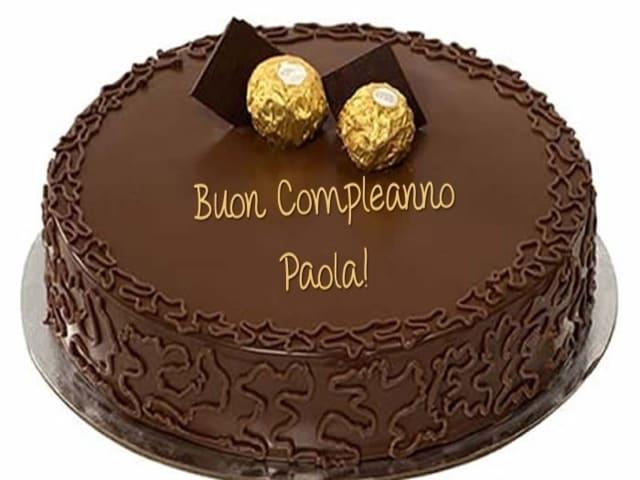 Compleanno Paola torta foto