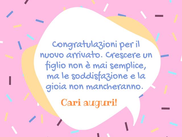 congratulazioni nascita