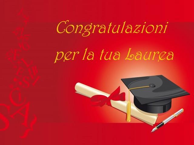congratulazioni per las laurea foto