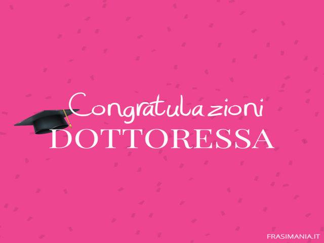 congratulazioni per la tua laurea