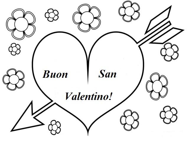 disegni di san valentino da colorare
