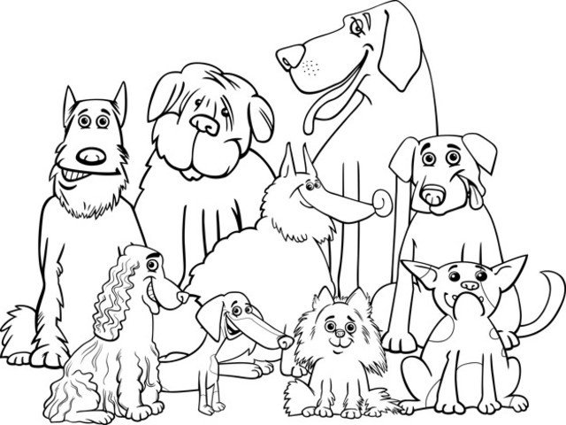 Cani Da Colorare Stampare.Immagini Dei Cani 74 Disegni Da Stampare E Colorare A Tutto Donna