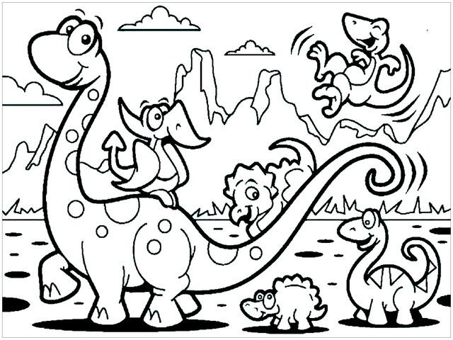 i dinosauri da colorare