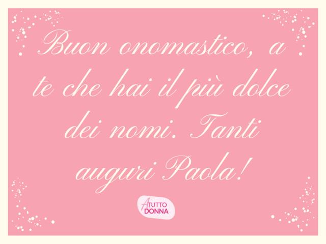 onomastico Paola