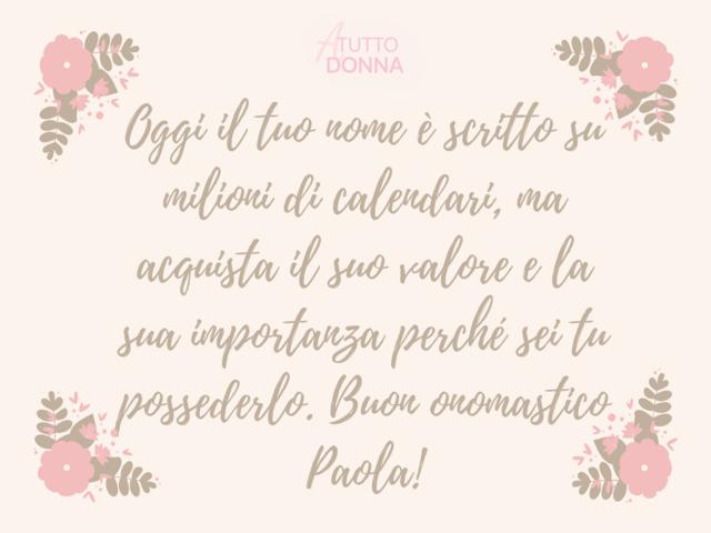 onomastico a Paola