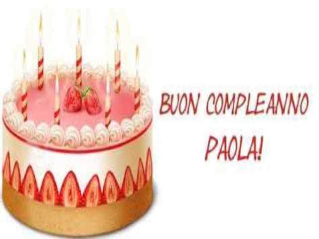 Paola auguri torta foto