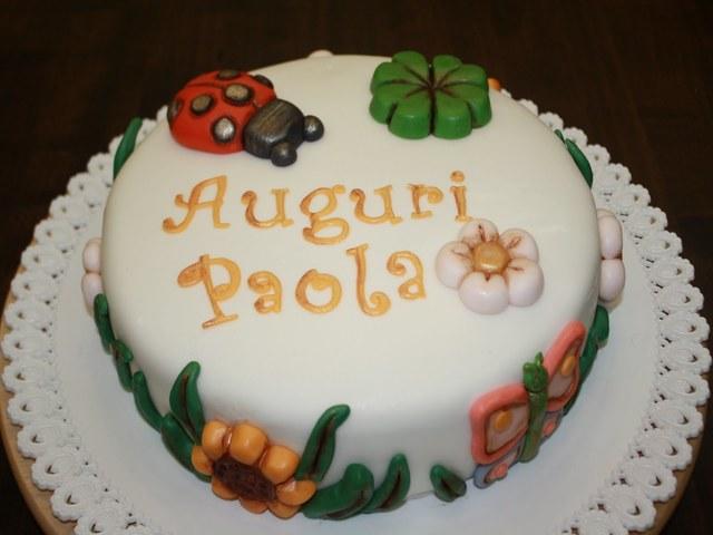 paola nome torta foto