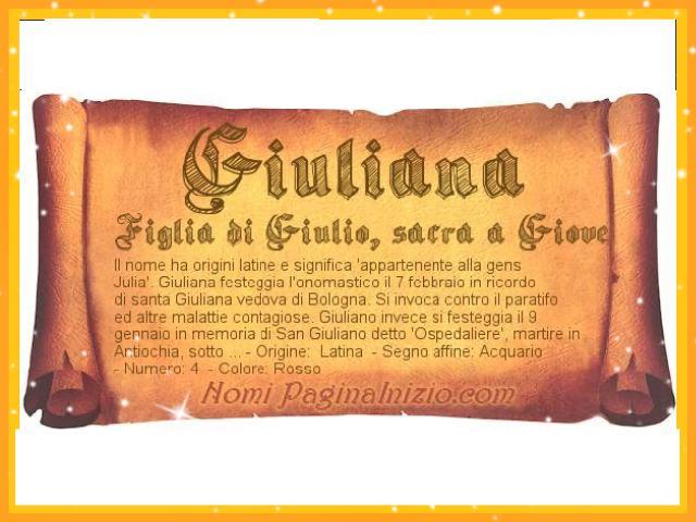 significato del nome giuliana