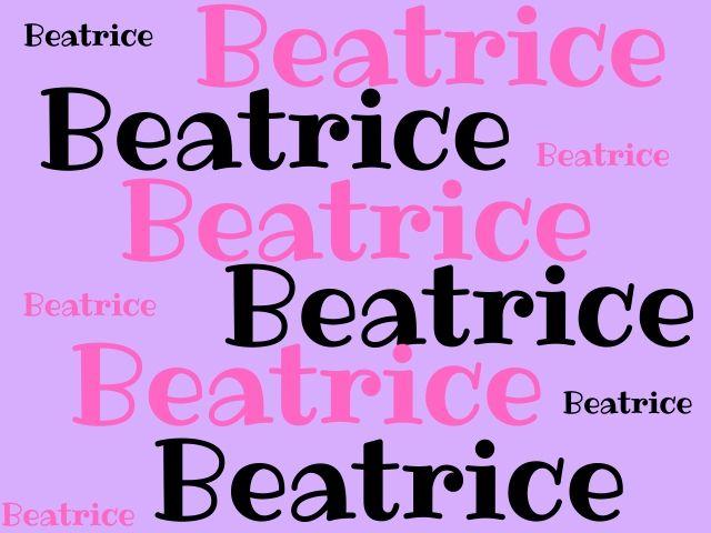 significato di Beatrice