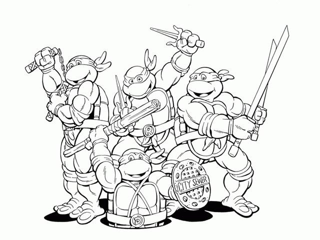 Immagini Delle Tartarughe Ninja Da Colorare.Tartarughe Ninja 66 Disegni Da Colorare E Stampare A Tutto Donna
