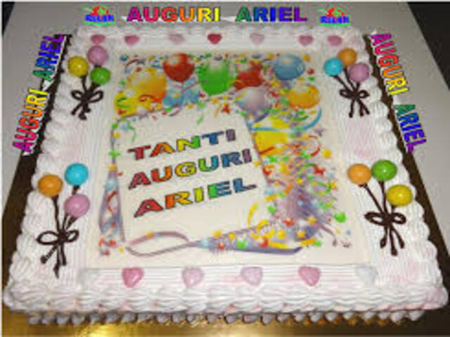 torta compleanno ariel foto