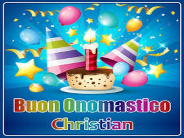 Buon Onomastico Christian1