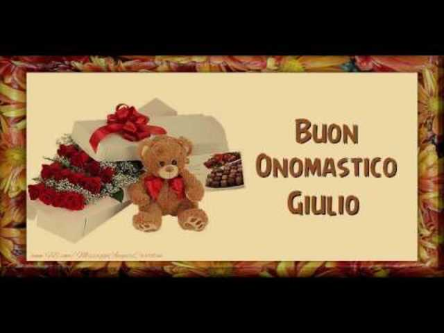 Buon Onomastico Giulio6