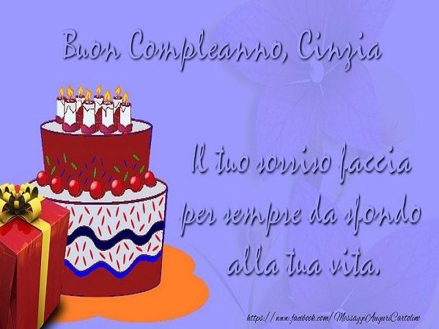 auguri compleanno Cinzia