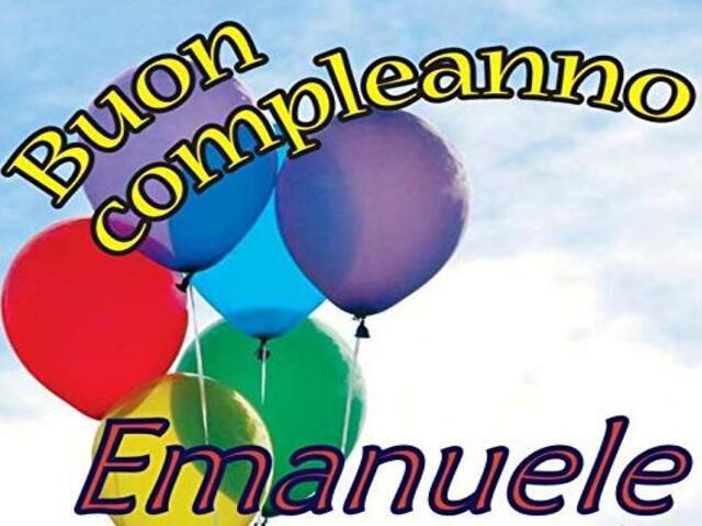 auguri compleanno Emanuele foto