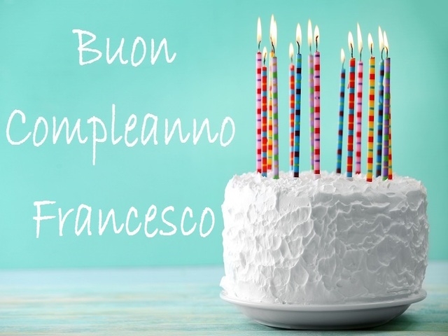 auguri Francesco torta