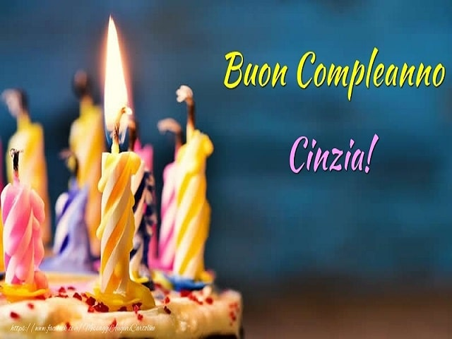 buon compleanno Cinzia