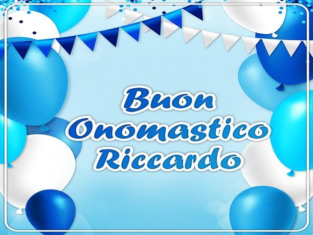 Buon onomastico Riccardo palloni