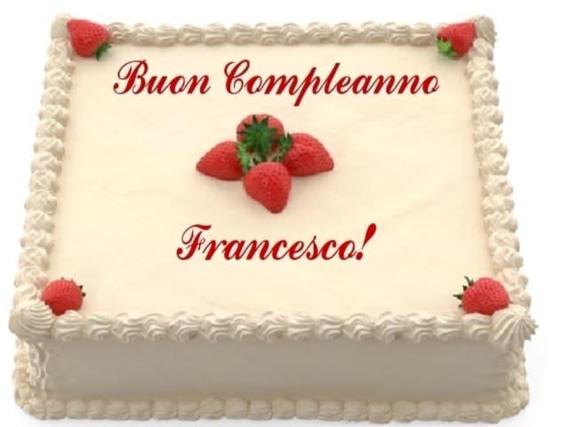 compleanno francesco torta auguri