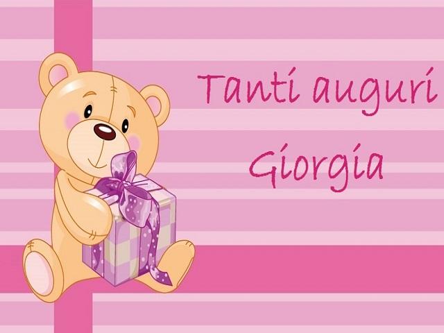 compleanno giorgia