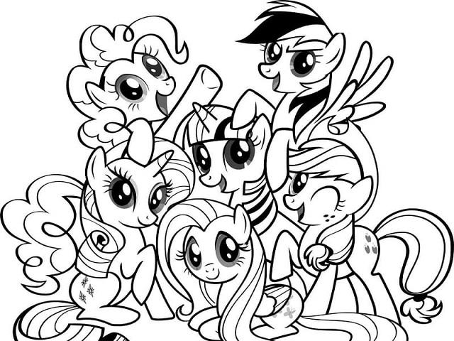 Princess Disegni Da Colorare My Little Pony.My Little Pony 86 Disegni Da Stampare E Colorare A Tutto Donna