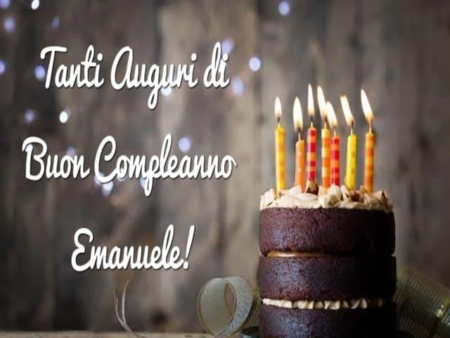 Emanuele buon compleanno foto