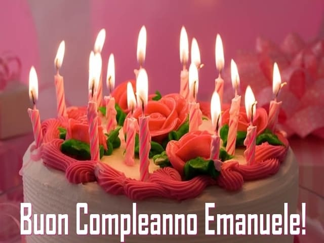 Emanuele torta compleanno foto