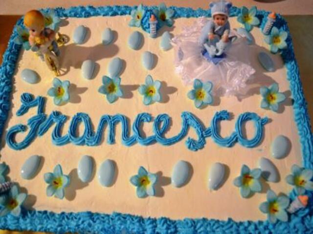 Francesco torta auguri