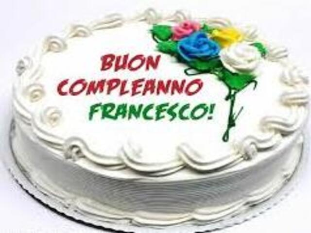 francesco torta compleanno
