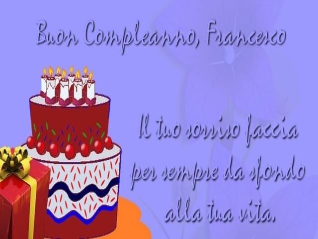 frasi Francesco compleanno