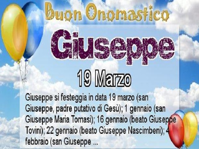 giuseppe onomastico 9