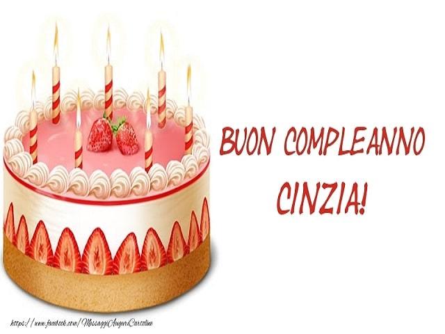 immagini buon compleanno Cinzia