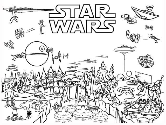 Star Wars 107 Disegni Da Stampare E Colorare Gratis A Tutto Donna