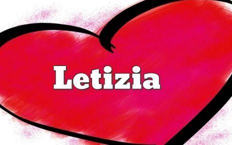 nome letizia
