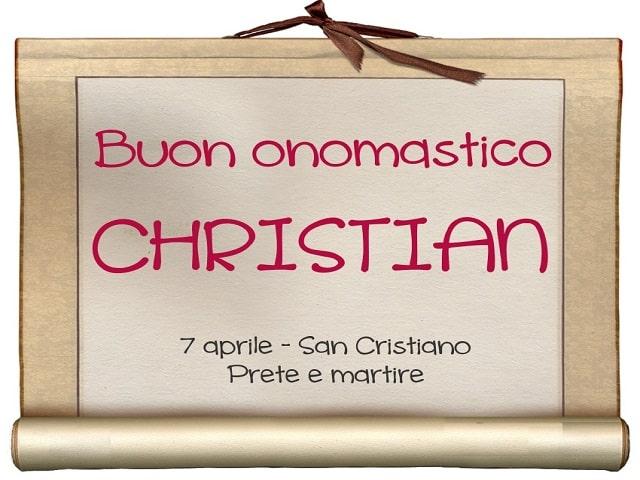 onomastico christian